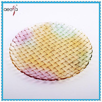 decorative large glass plates colorful dinnerware sets