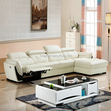 purple leather living room furniture with recliner, white leather living room furniture, leather sofas and home furniture 606-1