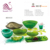 2018 Voice of Nature Green Swirl Leaf Decorative Resin Fruit Bowls for Hotel and Restaurant