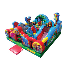 High quality cheap jungle animal giant inflatable bouncy castle price