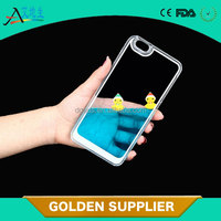 top selling 3D liquid cellphone protector transparent plastic phone case for iphone 6
