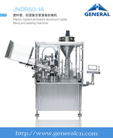 Plactic tubes/laminated aluminum tubes filling and sealing machine
