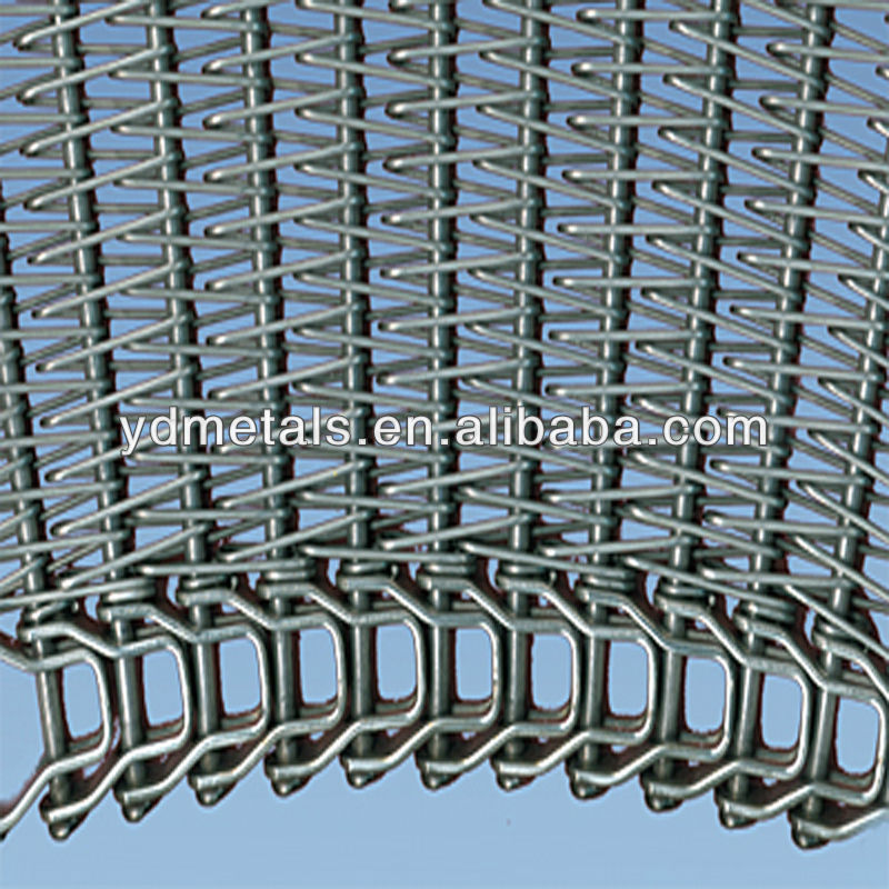 chain driven convey wire mesh belt