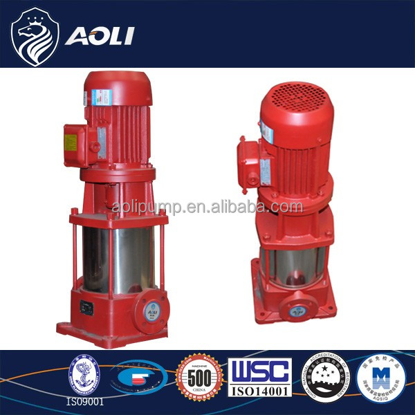 ALDL Series Vertical Multistage Centrifugal electric motor driven fire pump