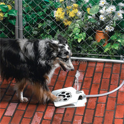 T Tocas Automatic Dogs Fresh Water Fountains, Pet Drinking Outdoor Training Tool, w/ Hose