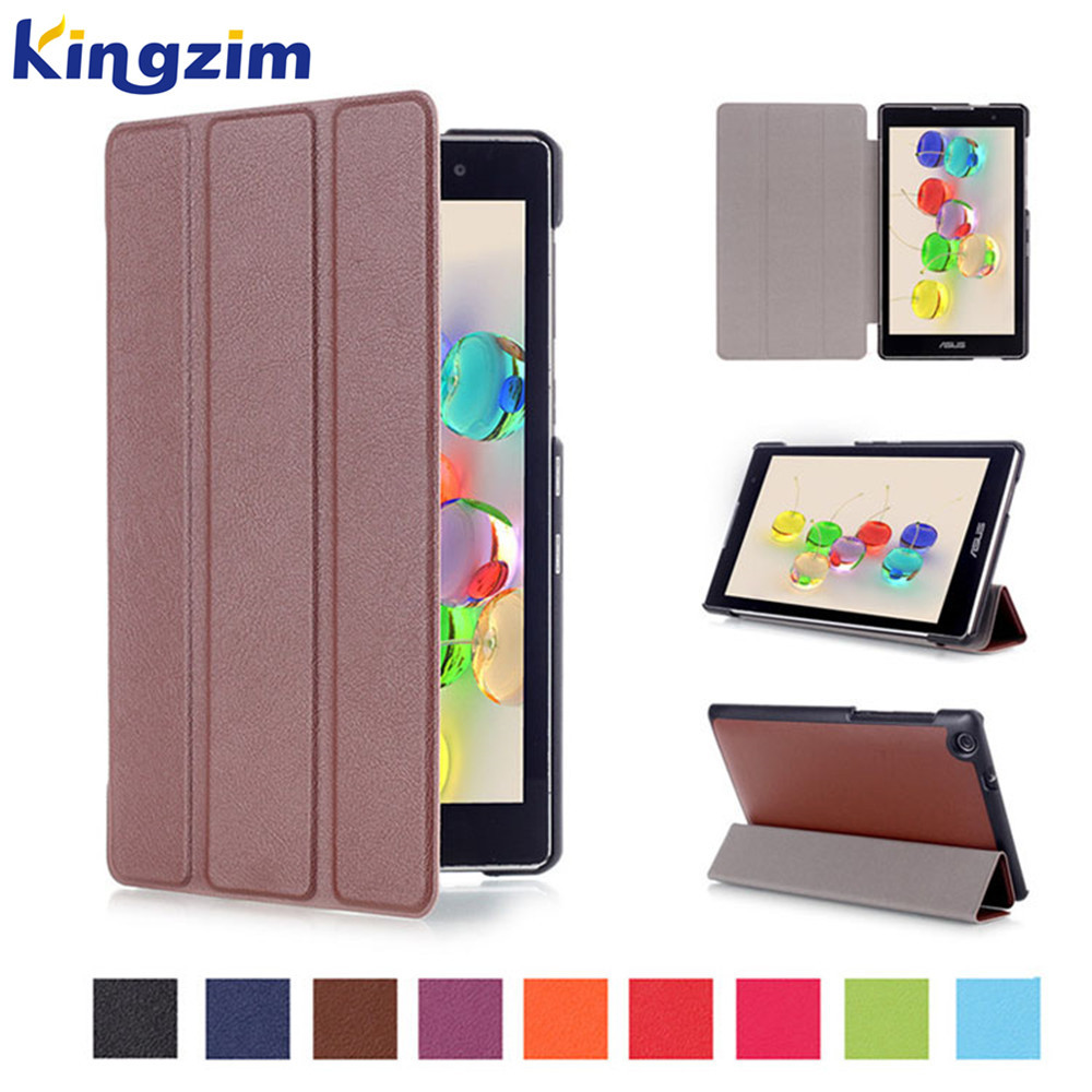Popular 2016 Tablet Accessories 7 inch Tablet Solid PU Leather Flip Cover for Asus Zenpad C 7 Z170C