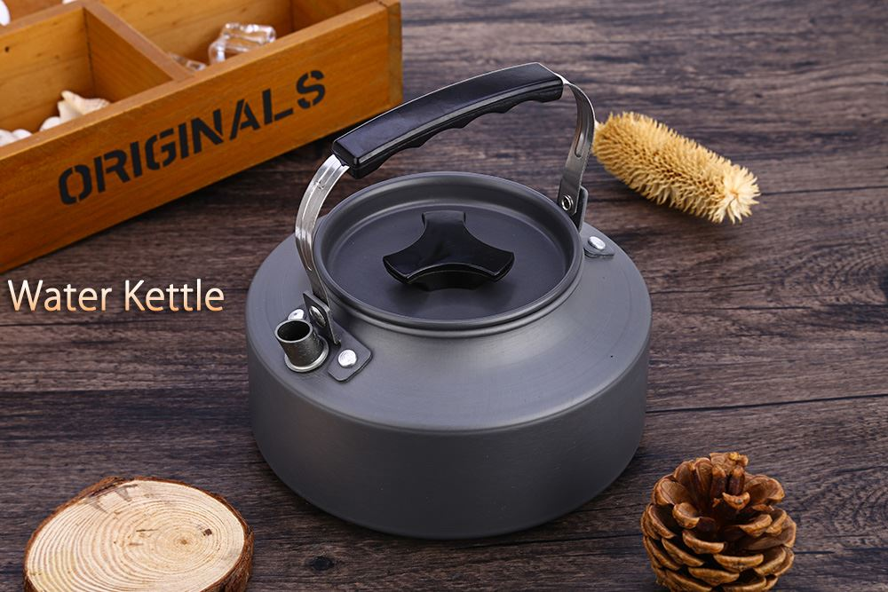 1.1L Outdoor Stoves Canteen Tea Kettle Jug Cook Set Outdoor Tableware For Outdoor Camping Pinic