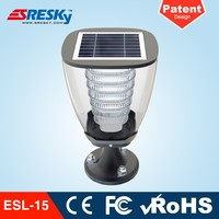 China Decor Led Solar Garden Lighting Pole Light For Fence Post