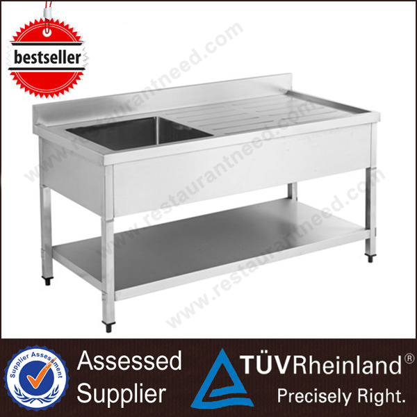 Customized Stainless Steel Industrial Single/Double Water Sink