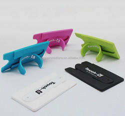 phone holder promotion wholesale silicone phone holder,3M sticker for card holder,silicone phone stand with 3M Sticker card hold