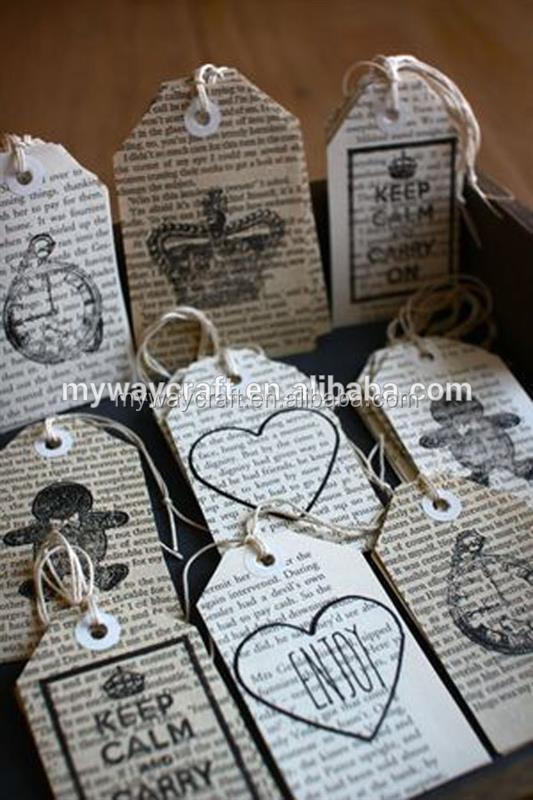 Usable letter printed paper gift tags/paper bookmarkers for gifts/decoration