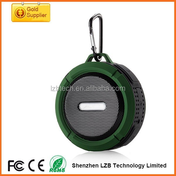 New portable motorcycle waterproof speakers with microphone and FM RADIO waterproof speaker