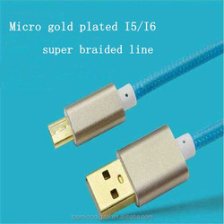 2A 3A Fabric Braided Micro b usb cable sync Data Line for samsung micro