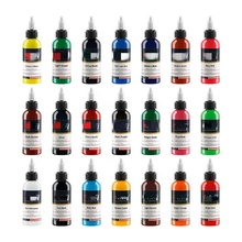 7 Basic Colors Tattoo Ink Set Pigment Kit 1oz (30ml) Professional Tattoo Supply for Permanent Makeup Tattoo Ink