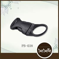 Fancy and design made fashion colored curved side quick release plastic buckle