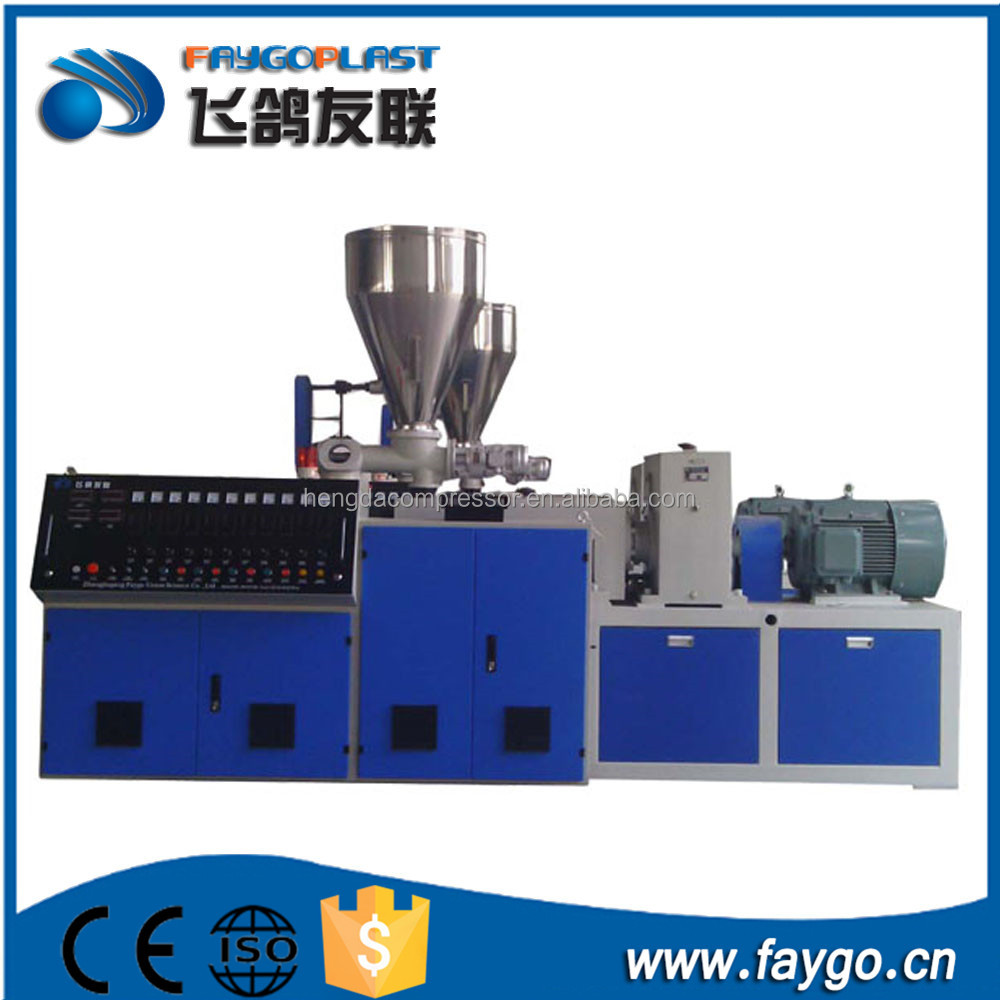 High performance high speed conical lab twin sscrew extruder