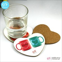 Souvenir drink MDF cork coasters for home decoration