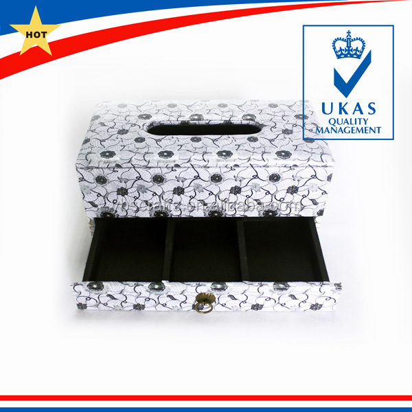 Factory Price Leather Tissue Box for Car