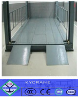 Four posts cargo motorized lifting platform with simple structure