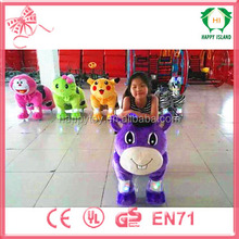Factory electric animal scooter,motorized animal,coin operated horse ride