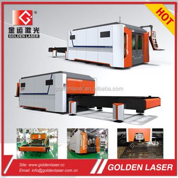 IPG /nLight 2000W Fiber Laser Cutting Metal Machine with Shuttle Table for Steel Sheet