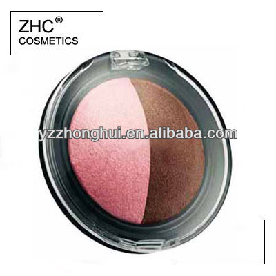 CC30101 2 color baked eyeshadow in round case