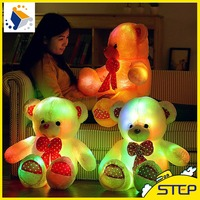 Wholesale LED Flashing Teddy Bear Plush Dolls Lovely Multisize Bear Gifts for Kids and Girls ST160305-9
