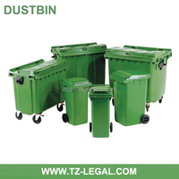 high quality dustbin for sale with EN840 cheap price 1100l plastic waste bin
