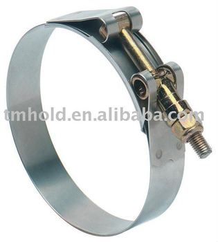 T bolt heavy duty stainless steel hose clamps