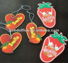 Promotional Gifts strawberry shape air freshener for car