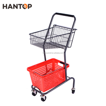 Supermarket double layers Basket Shopping Trolley HAN-BT3 3234