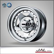 new product China wholesale 15 inch 15x6 chrome wheels for 4x4