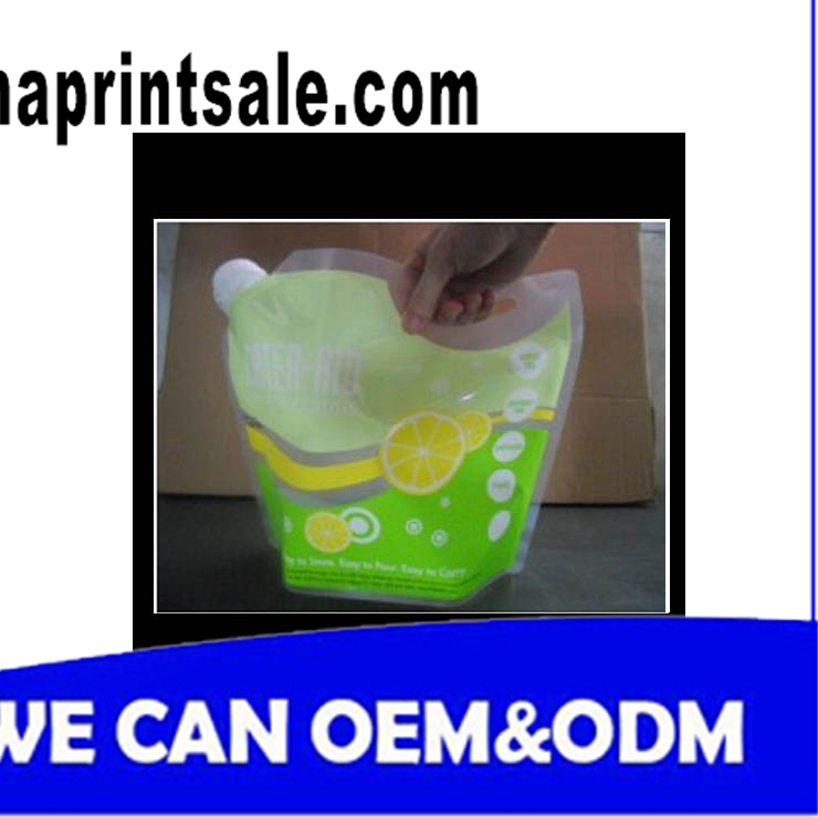 Detergent Spout Bag/Stand Up Pouches/Reusable Baby Food Spouted Pouch