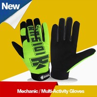 2016 Lava Top Quality Leather Working Impact Gloves with Best Price