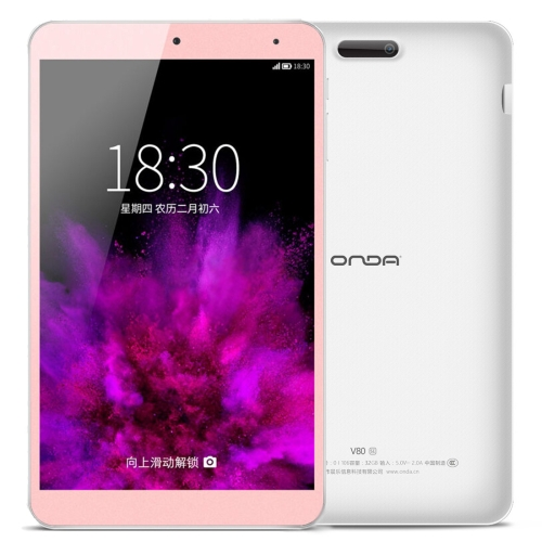 Original ONDA V80 SE Tablet ROM 32GB 64GB 128GB CE/FCC/ROHS/WEEE Certificated Dual Camera 8.0 inch HD Screen ONDA Android 5.1 OS