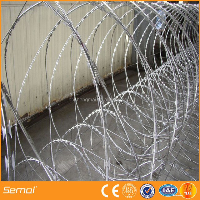 Hot sale galvanized concertina razor barbed wire cross type BTO-22 (army security)