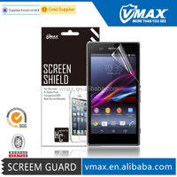 Ultra Clear LCD Screen Protector for Sony xperia z1,Supershieldz screen protector oem/odm (High Clear) High Quality