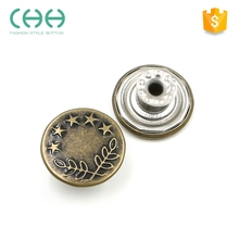 New style custom JG40 metal jeans rivets button for clothing