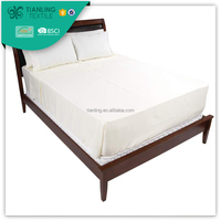 Cotton White Queen Size 4PCS Bedding Sets Fitted Sheets
