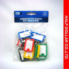 Hot sale 12pcs Plastic Key Indicators/ Key Chain