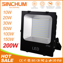 IP66 waterproof 50W 100W 150W 200w high lumen led flood light outdoor