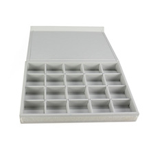 Customized handmade large capacity white jewel collection case with detachable flap lid