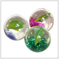 hot selling LED floating fish glitter bouncing ball for adult and kids