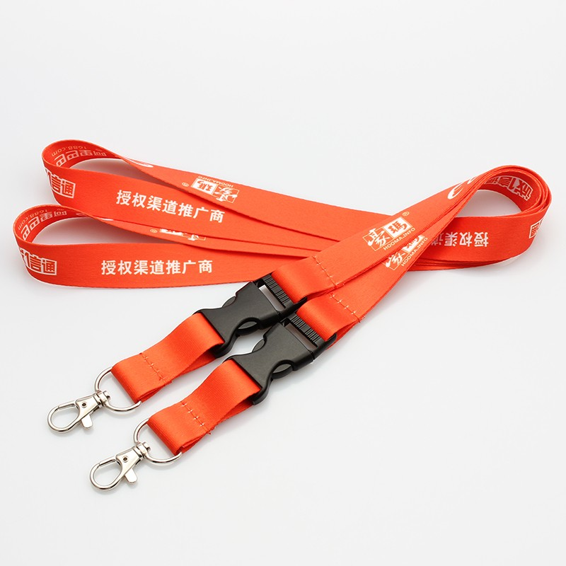 Promotion polyester strap with heat transfer print custom flash drive USB lanyards