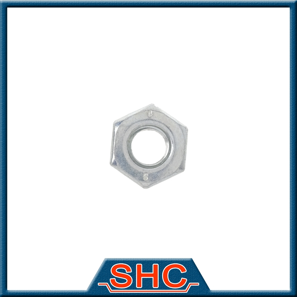 Customized Round Exhaust Chrome Groove Hex Nut