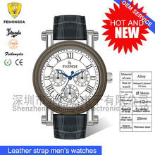 New design watch FA13053G big face watch for men with leather band