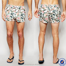 mens sportswear made in china three pockets mens swim shorts tropical floral print mens swim trunks