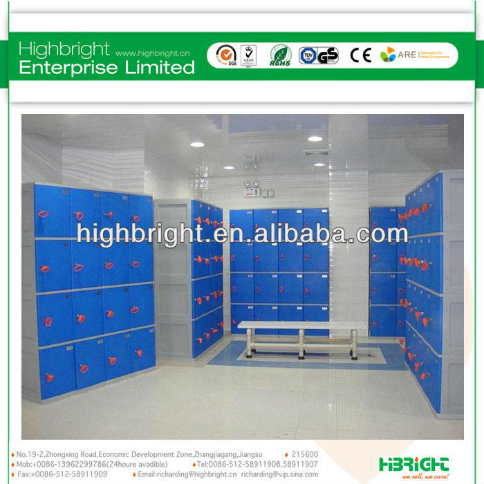 2013 HOT ABS plastic sports lockers