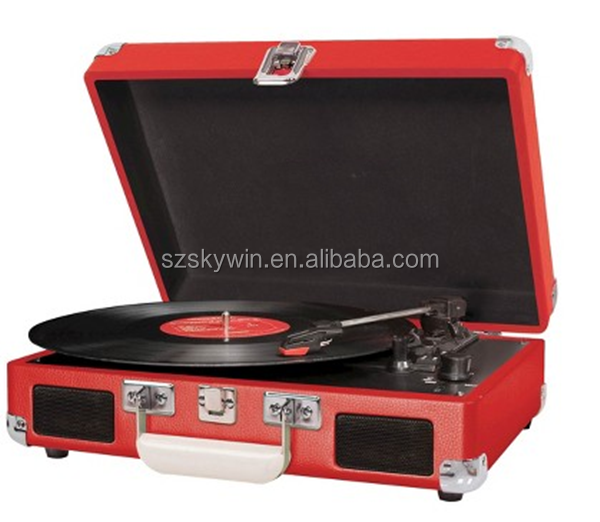 retro wooden turntable player&vinyl records wholesale