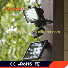 Modern Outdoor Graden Solar Sun Power Rechargeable Wall Mounted LED Corner Light with IP65